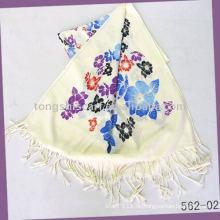 Acryl-Schals mit Blumendruck