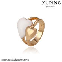 14450 atacado moda senhoras jóias estilo irlandês duplo corações em forma de anel de dedo para presente