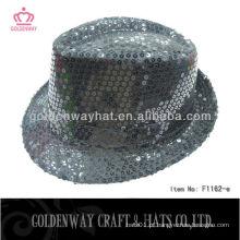 Chapéus de festa de lantejoulas pretos para adultos