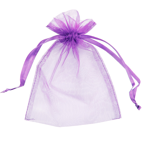 colorful small organza jewelry bag