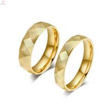 Anel personalizado de jóias de ouro, amantes correspondentes a sua e sua promessa anéis jóias de ouro branco