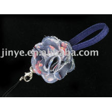 Jean Demin Lanyard with demin flower decoration