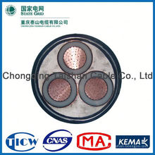 Factory Wholesale 15kv 3x240mm mv concentric power cable