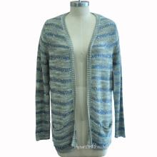 Женщины вскользь длинние втулки Cardigan Knitwear с Sequin