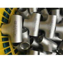 Stainles de acero Butt Weld Tees con PED / TUV / Ad2000