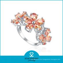 Charm Silber Freimaurer Ring Blume geformt (SH-R0183)