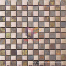 Metal Style Copper with Stainless Steel Mosaic Tiles (CFM937)