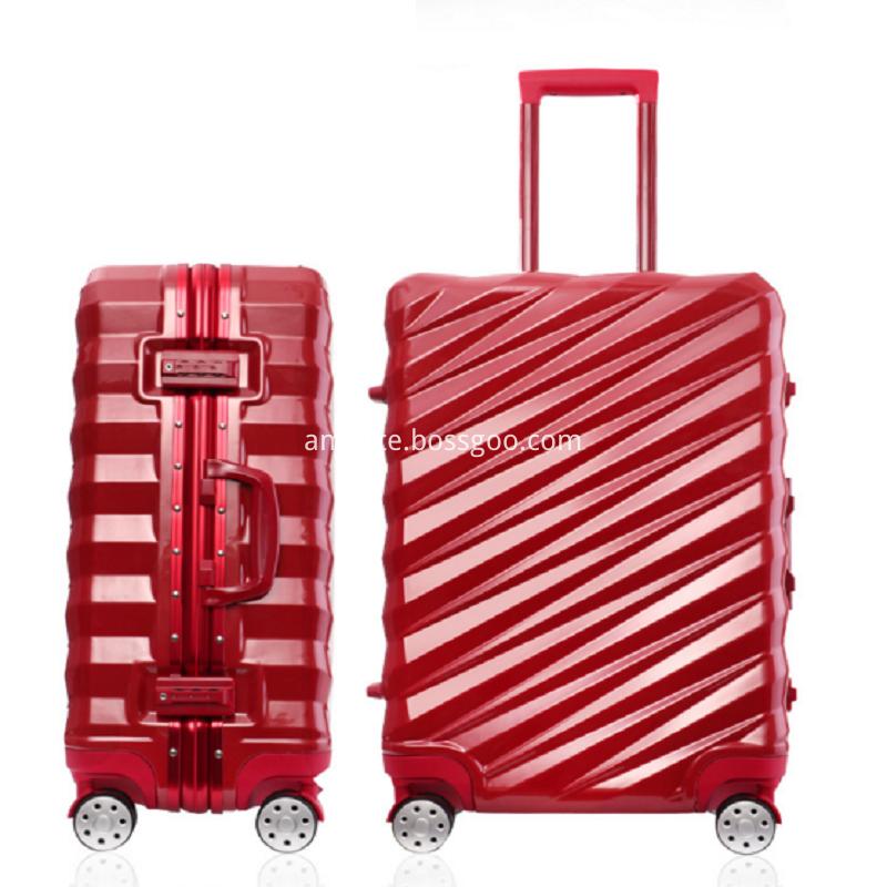 Red fashion luggage