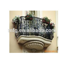 China Lieferanten neue Produkte Ornamentale Gusseisen Terrasse Sicherheit / Gusseisen Balkon Fenster Geländer für Zaun
