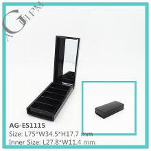 Cinco grade retangular sombra de olho caso com espelho AG-ES1115, embalagens de cosméticos do AGPM, cores/logotipo personalizado