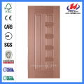 JHK-010 Engineered Sapele Veneer MDF Panel de piel de la puerta interior