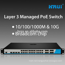 Manufacturer China L3 managed power switches for poe 10/100m Ethernet switch buy direct from china manufacturer