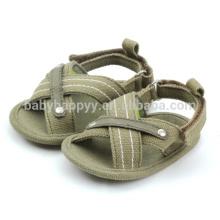 Горячие продажи младенца холст обувь ребенка милые дети сандалии