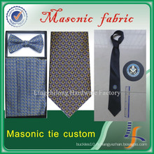 Cravate maçonnique cravate faite sur commande de soie des hommes