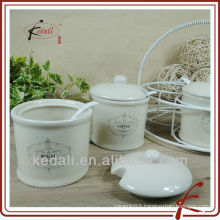 CERAMIC JAR WITH HOLDER