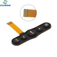 Commutateur à membrane de couche FPC à dôme en métal avec clavier en silicone