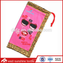 microfiber cleaning sunglass pouch bags,custom digital printed microfiber case