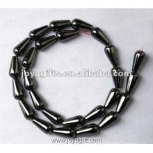 "8x16MM Loose Magnetic Hematite Drop Beads 16"""