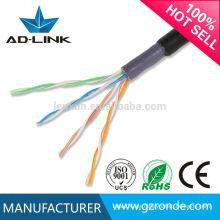 Precio bajo 305m utp cat5 cable impermeable utp al aire libre