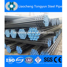 Tubo de aço carbono sem costura stk400