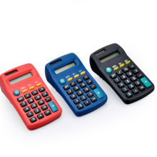 8 dígitos Dual Power Small Pocket Gift Calculator
