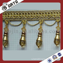 Beaded Handmade Curtain Trims Fringe,bead beaded fringe,used for sofa,Lamp,home textile accessory