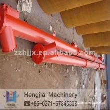 Transportador flexible de tornillo, equipo de elevación de cubo de cemento