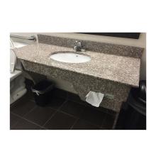 Лучшие продажи G664 полированный сборный гранит для ванной комнаты Низкая цена тщеславие Столешница для ванной комнаты из бразильского гранита