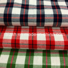 2016 Cotton Yarn-Dyed Plaid Twill Brushed Fabric with High Density