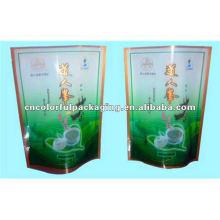 Doypack Stand Up ziplock Vivid Printing Laminated Material Tea Packaging bags