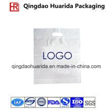 Bolso de compras cortado con tintas plástico personalizado de la manija del LDPE biodegradable