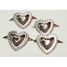 Metal Heart Studs for Leather Crafts