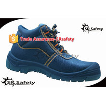 SRSAFETY 2015 autumn high quality emboss cow split leather safety shoes,safety equipment