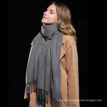 High quality fashion lady fake cashmere head shawl women pashmina oversize winter scarf