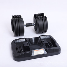 Wholesale Hex Rubber Black Painted Kettle Bell Fitness Weight Training All Steel Gym Neoprene Vinyl Adjustable Dumbbell