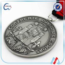 Medalhão de prata liso padrão medalhão estampado