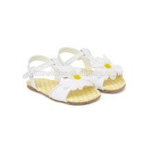 Sapatos de criança sandália adorável por atacado para meninas com girassol