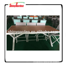 Garden aluminium plate table and chair set