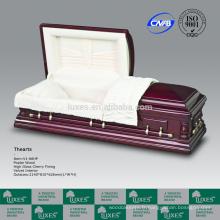 American Classic LUXES nous cercueils en bois de Style avec le rouge de couleur