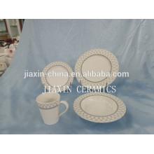 Conjunto de cena de porcelana de forma redonda y alta calidad de 20 piezas