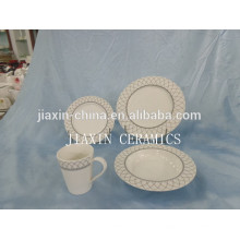 Forma redonda de alta qualidade 20 pcs conjunto de jantar de porcelana
