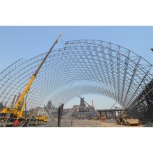 Armazém de espaço de aço Armazém de carvão Construção de construção Cúpula de telhado