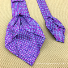 Men Neckties in Custom Print Silk Wholesale Fold Ties