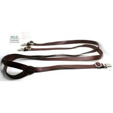 Мода Основные Подлинная Топ кожаные мужские Suspender Lky1207