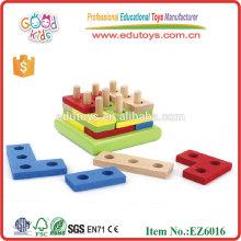 Kinder Bunte IQ Puzzle Form Activity Board Holz Pädagogische Spielzeug Blöcke