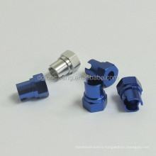 ISO factory blue - anodized aluminum weld fittings made in China