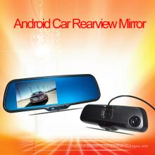 Système de DVR de moniteur de rétroviseur de voiture Android