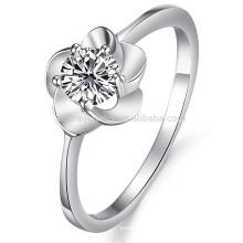 Venta al por mayor joyería de lujo de la boda del anillo del Rhinestone del anillo de oro blanco dj906