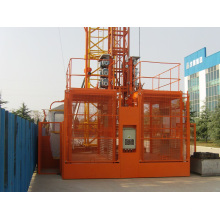 Elevador duplo da construção da grua 2ton da construção da construção da gaiola Sc200 / 200