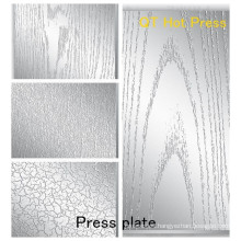 Especificaciones Placa de prensa para Textura sobre laminados / Placa de Prensado para Placa de Prensa de MDF de Melamina para HPL